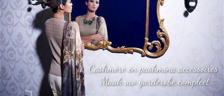 Cashmere en pashmina accessoires. Maak uw garderobe compleet.